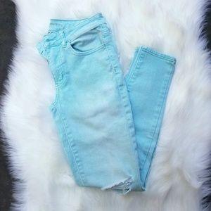 SALE! American Eagle Bright Mint Green Skinny Jean